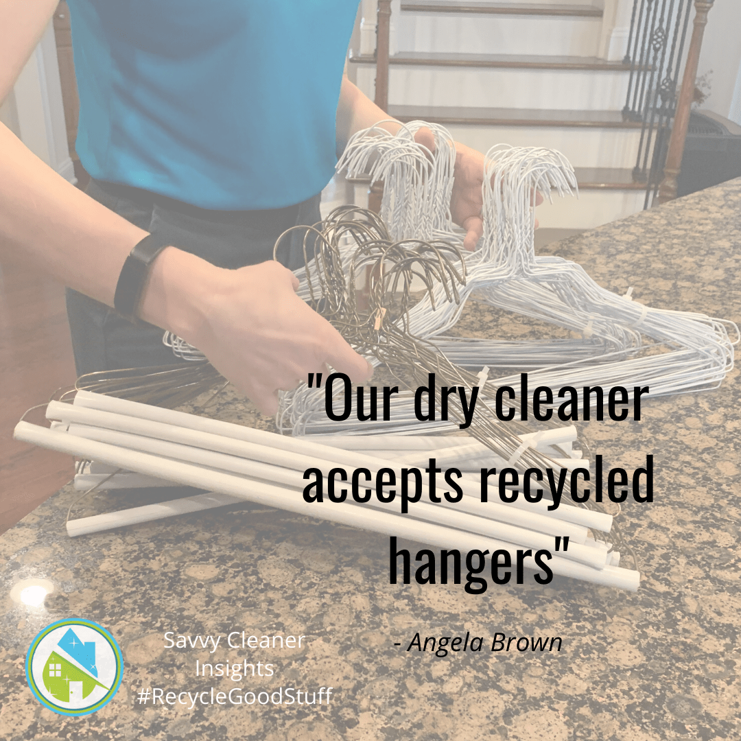 Angela Brown Motivation - Dry Cleaner Accepts Recycled Hangers