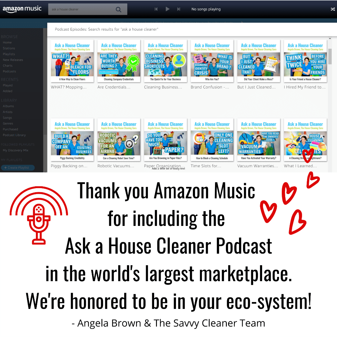 Amazon Music Ask a House Cleaner x 1080