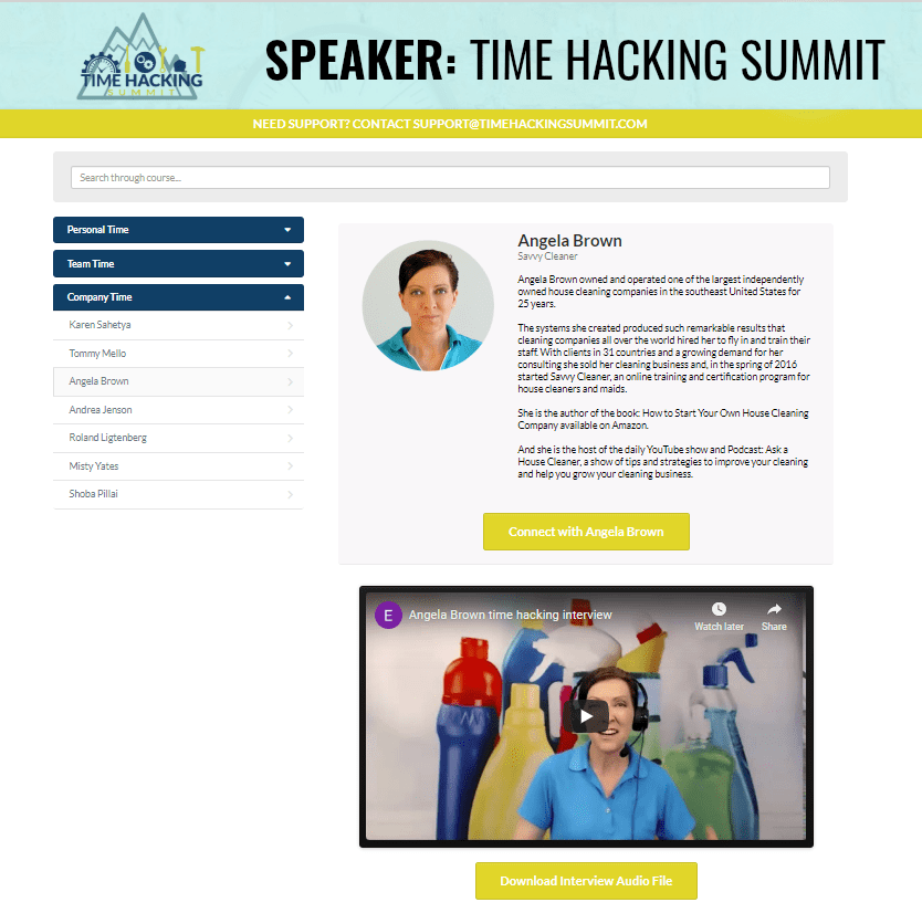 Emily Martinez Time Hacking Summit - with Angela Brown