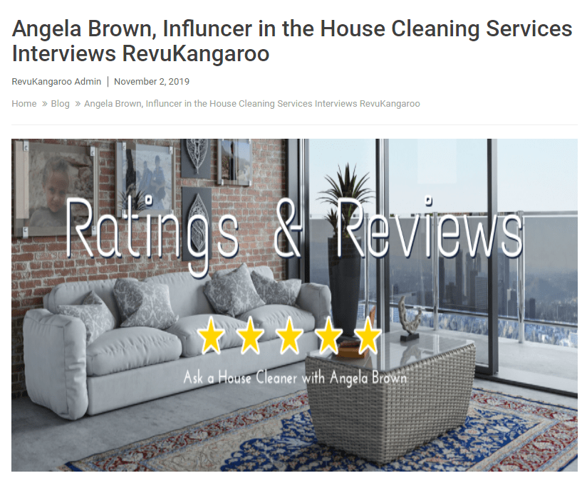 Ratings and Reviews with RevuKangaroo NOV 2019 - Angela Brown