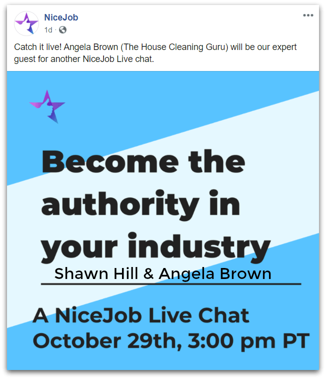 Shawn Hill Nice Job Live Chat with Angela Brown Savvy Cleaner