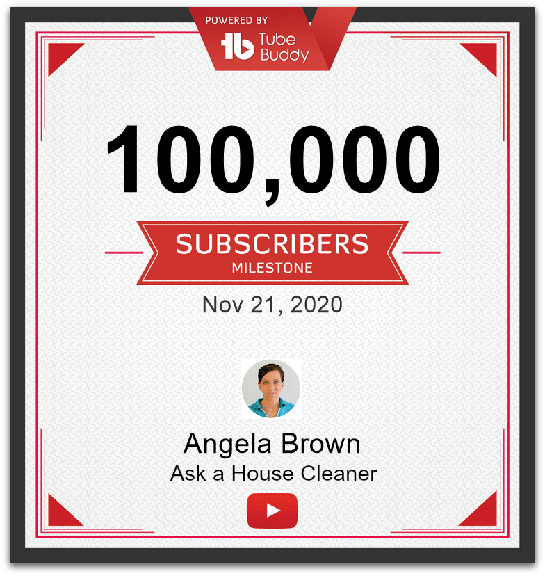 Angela Brown Ask a House Cleaner Reaches 100K Subscribers