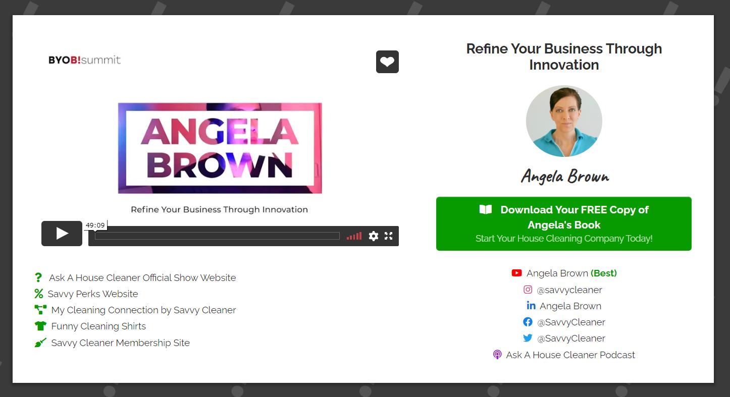 Angela Brown at BYOB Summit - 2021