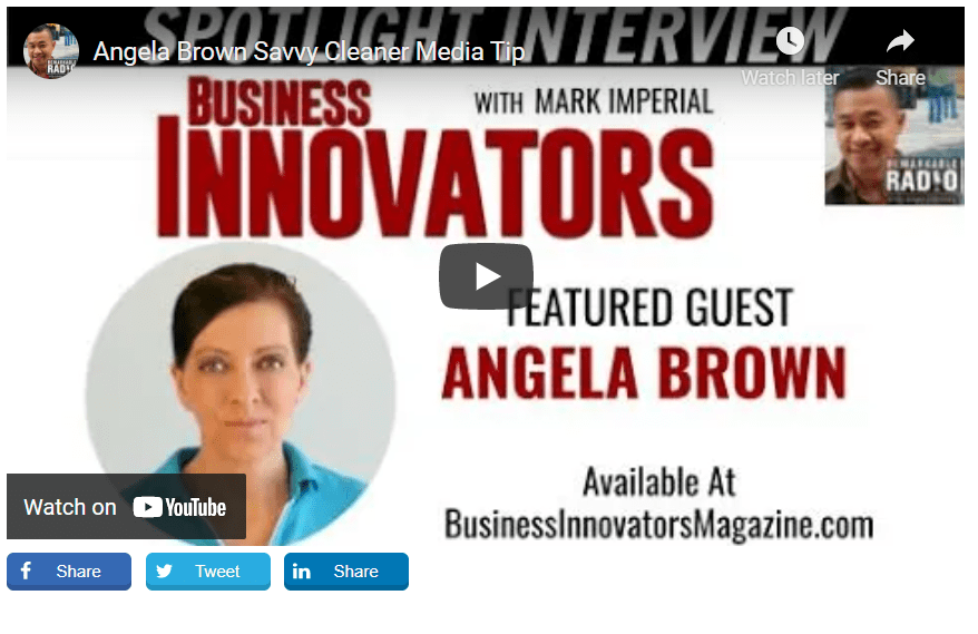 Angela Brown Business Innovators with Mark Imperial